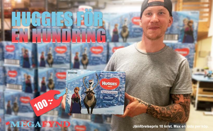 Huggies våtservetter för 10 kr/st